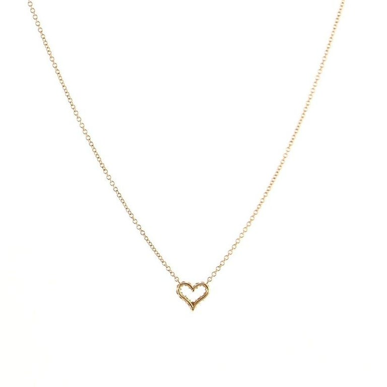 Women's or Men's Tiffany & Co. Sentimental Heart Pendant Necklace Rose Gold and Diamond Extra For Sale