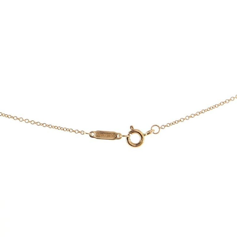 Tiffany & Co. Sentimental Heart Pendant Necklace Rose Gold and Diamond Extra For Sale 1