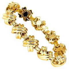 Tiffany & Co. Signature X 18k Yellow Gold Classic Vintage Link Bracelet