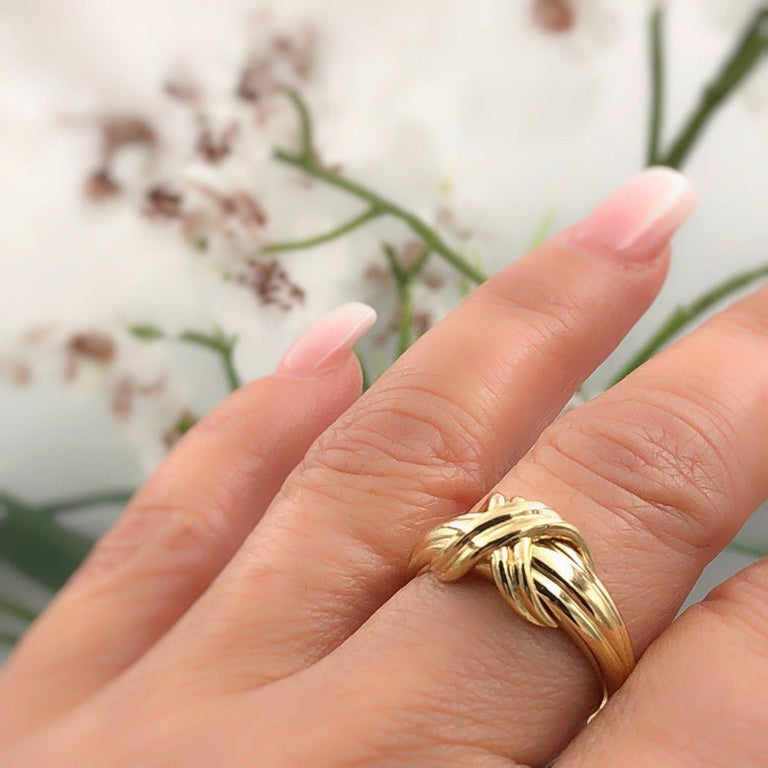 bbc8530aa Tiffany & Co. Signature X Crossover Ring in 18 Karat Yellow Gold For Sale 3