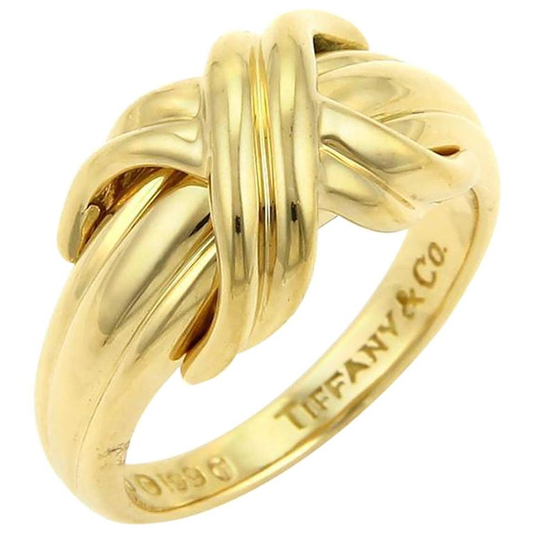 c688d559c Tiffany & Co. Signature X Crossover Ring in 18 Karat Yellow Gold For Sale