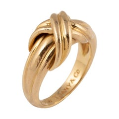 Tiffany & Co. Signature X Gold Ring, 1990