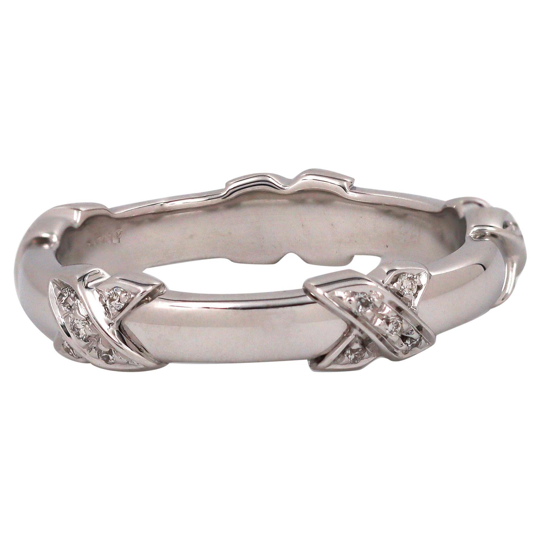 Tiffany & Co. Signature X White Gold Diamond Ring
