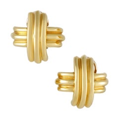 Tiffany & Co. Signature Yellow Gold Clip-On Earrings