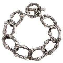 Tiffany & Co. Silver Bamboo Link Toggle Bracelet