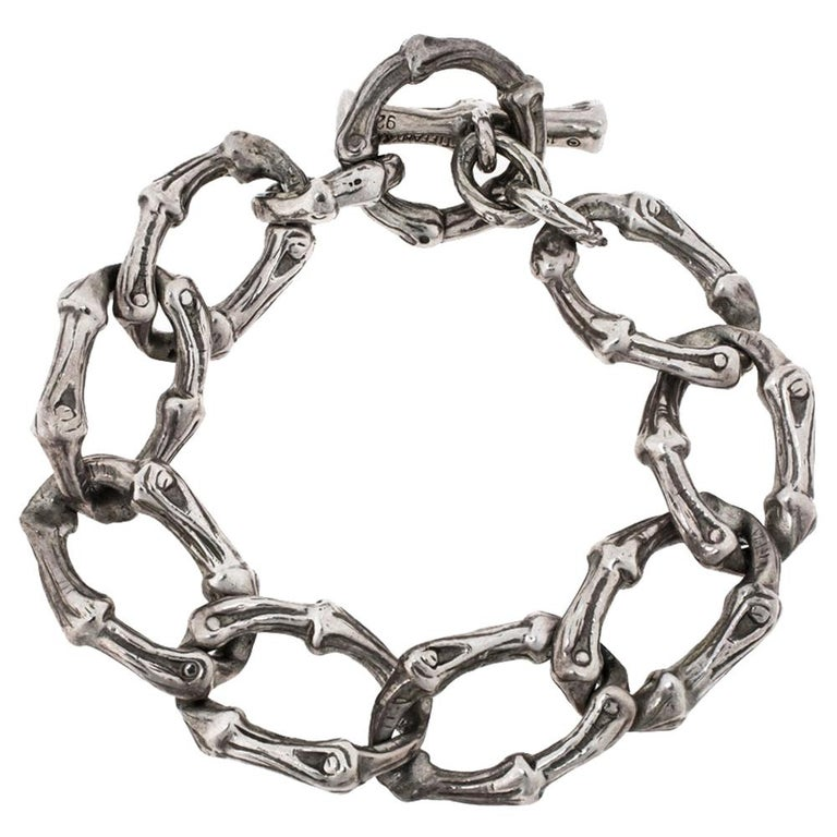 Tiffany & Co. Silver Bamboo Link Toggle Bracelet