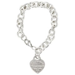 Tiffany & Co Silver Return To Tiffany Heart Tag Charm Bracelet