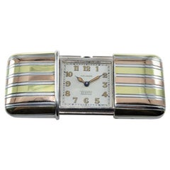 Tiffany & Co. Silver with Multi-Color Gold Inlay Art Deco Ermeto, circa 1920s