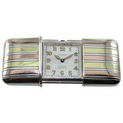 Tiffany & Co. Silver with Multi-Color Gold Inlay Art Deco Ermeto, circa 1920s