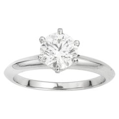 GIA Certified IF Tiffany & Co. Diamond Solitaire Ring