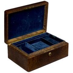 Tiffany & Co. Snake Skin Jewelry Box with Bramah Locks, circa 1880