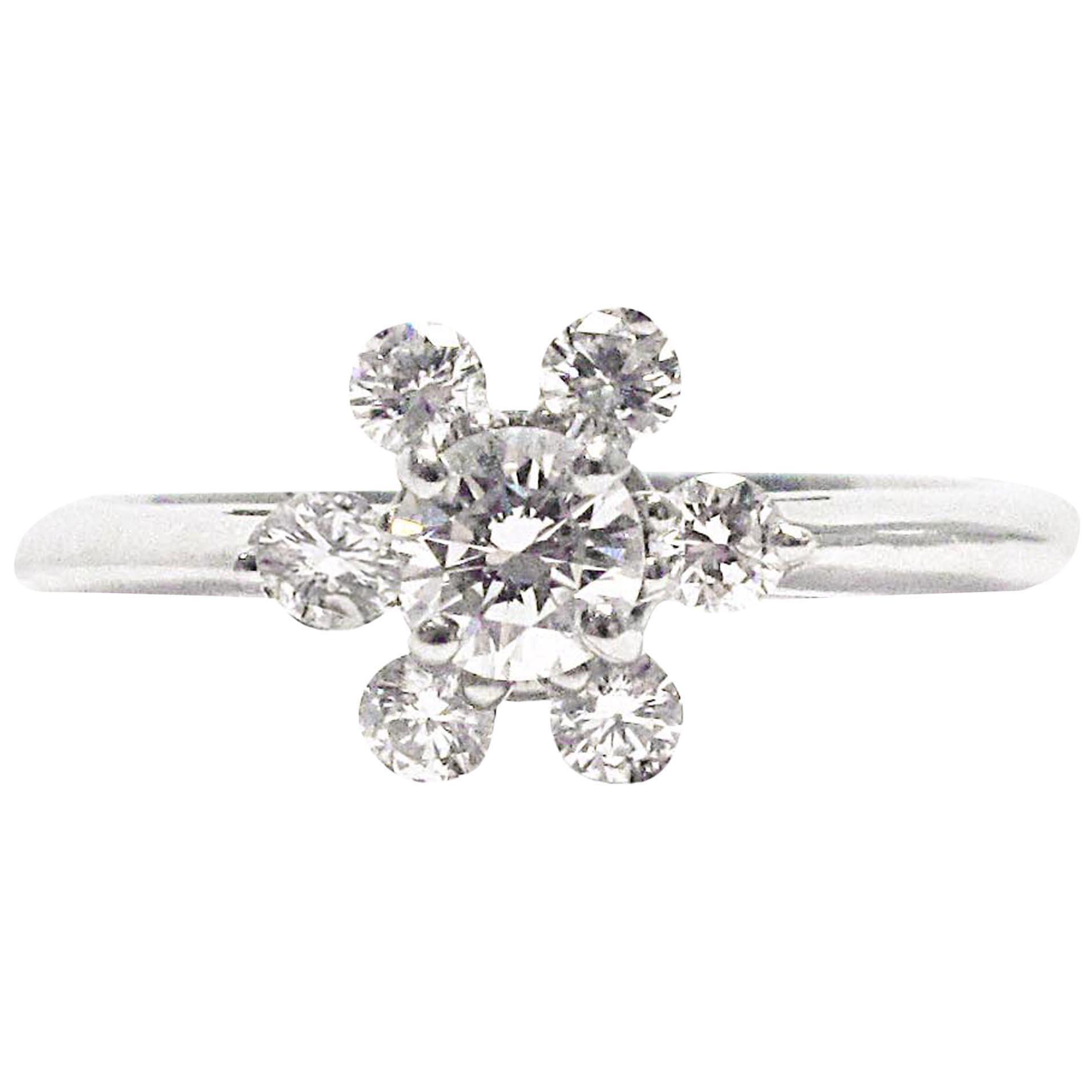 Tiffany & Co. Snowflake Diamond Platinum Ring