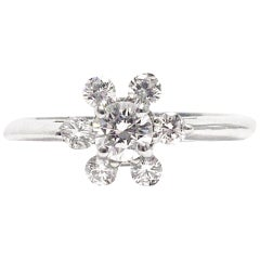 Tiffany & Co. Snowflake Diamond Platinum Ring