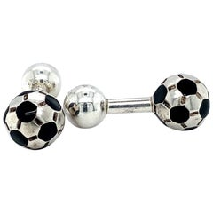 Tiffany & Co. Soccer Ball Cufflinks, Sterling Silver