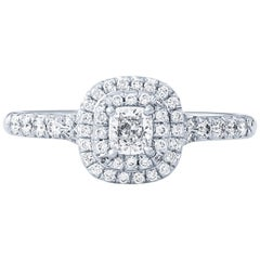 Tiffany & Co. Soleste 0.24 Carat Cushion Cut Diamond Engagement Ring, 18 Karat