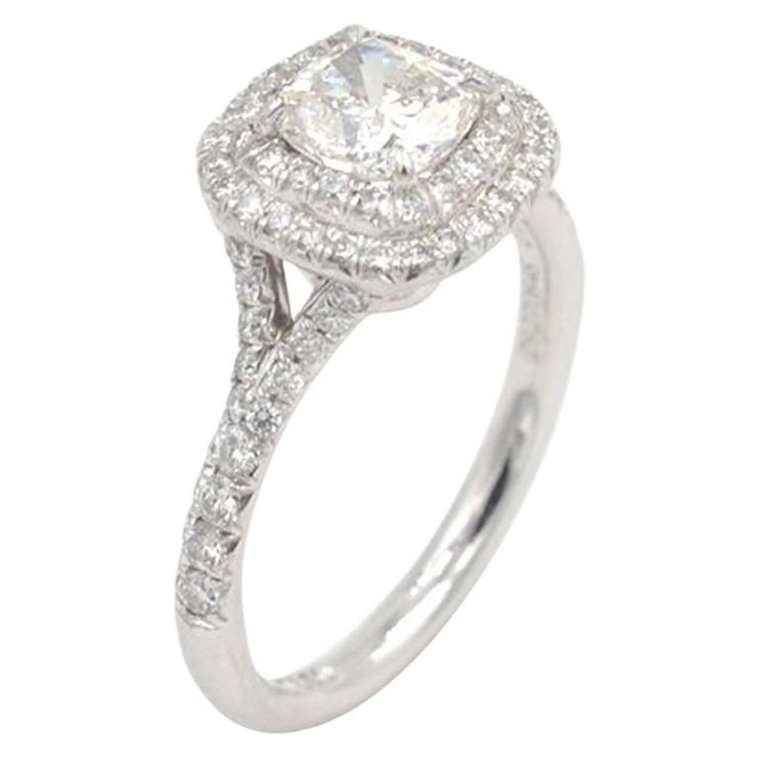 Tiffany Co Soleste 0 71 Carat Cushion Cut Diamond