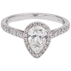 Tiffany & Co. Soleste 1.09 Carat TW G-VS1 Pear Shape Engagement Ring in Platinum
