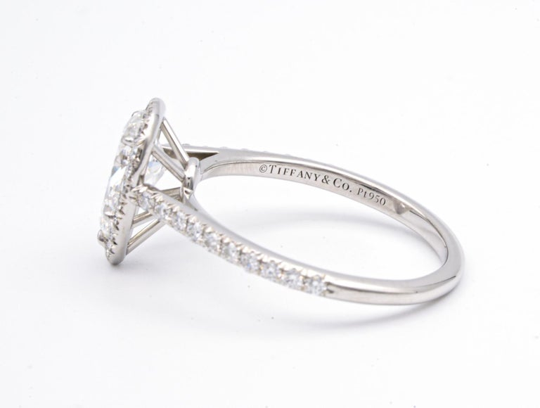 Pear Cut Tiffany & Co. Soleste 1.10 Carat Pear Shape Engagement Ring in Platinum For Sale