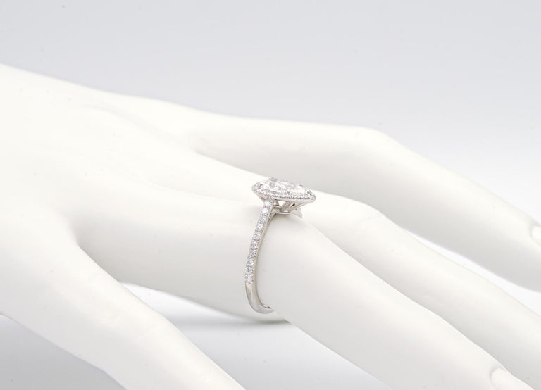 Tiffany & Co. Soleste 1.10 Carat Pear Shape Engagement Ring in Platinum For Sale 1