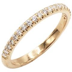 Tiffany & Co. Soleste 18 Karat Rose Gold Half Circle Diamond Band Ring