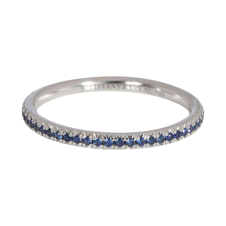 Tiffany & Co. Soleste Blue Sapphire Eternity Band in 18k White Gold