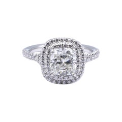 Tiffany & Co. Soleste Cushion 1.38 Center. HVS1 Engagement Ring