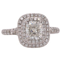 Tiffany & Co. Soleste Cushion Diamond 1.30 Carat Engagement Ring Retail $14,200