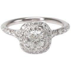 Tiffany & Co. Soleste Diamond Engagement Ring in Platinum 0.53 Carat G/VVS1