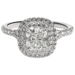 Tiffany & Co. Soleste Diamond Engagement Ring in Platinum G VVS 1.31 Carat