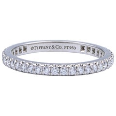 Tiffany & Co. Platinum Soleste Full Circle Diamond Band, 0.34 Ct Size 5.5 2mm