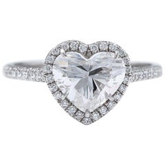 Tiffany & Co. Soleste Heart Shape Platinum Diamond Engagement Ring 1.95 Carat