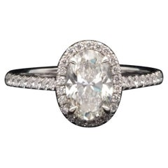 Tiffany & Co. Soleste Oval Engagement Ring 1.97 Carat total G VS1