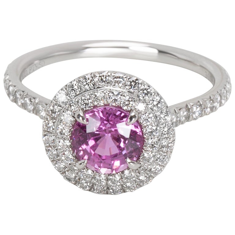 Tiffany And Co Soleste Pink Sapphire And Diamond Ring In