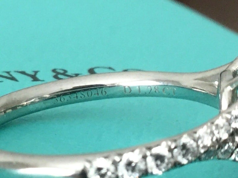 e00d25314 Tiffany & Co Soleste Platinum and Diamond 1.28 Carat H Internal Flawless For  Sale 5