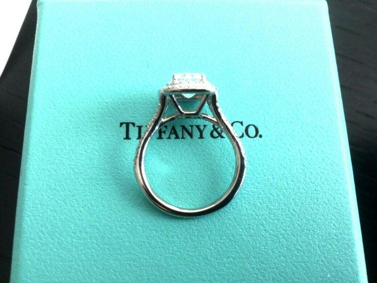 f671cbb4f Tiffany & Co Soleste Platinum and Diamond 1.28 Carat H Internal Flawless For  Sale 6