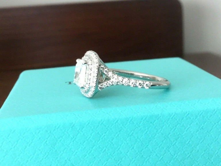 7f2295b3f Tiffany & Co Soleste Platinum and Diamond 1.28 Carat H Internal Flawless In  Excellent Condition For