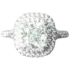 Tiffany & Co. Soleste Platinum and Diamond Engagement Ring 1.04 Carat I VS1