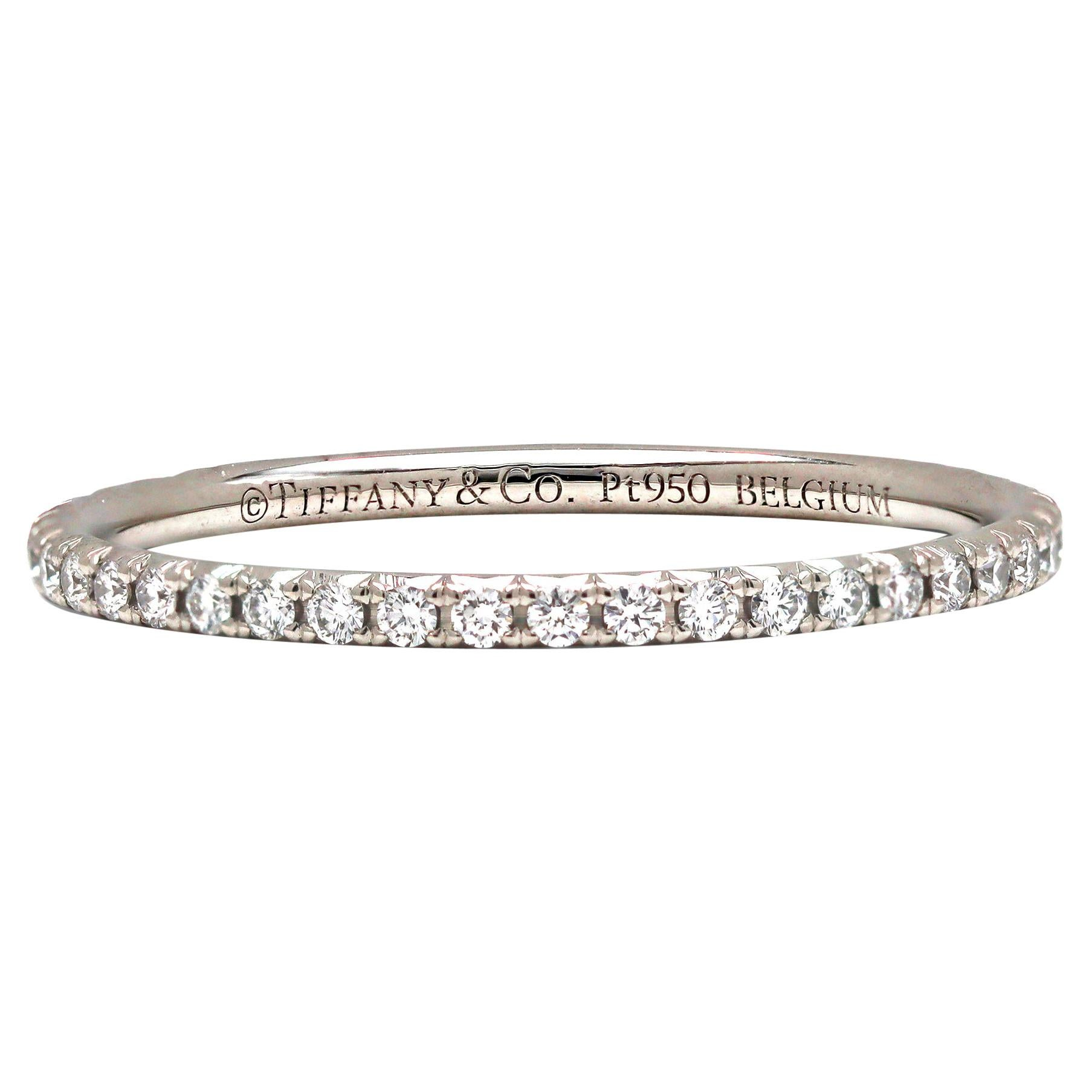 Tiffany & Co. Soleste Platinum Diamond Eternity Band