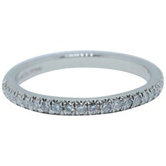 Tiffany & Co. Soleste Round Brilliant Diamond Band Ring in Platinum