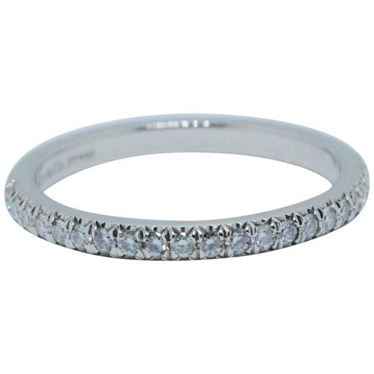 bfdcfadf67b10 Tiffany & Co. Soleste Round Brilliant Diamond Band Ring in Platinum