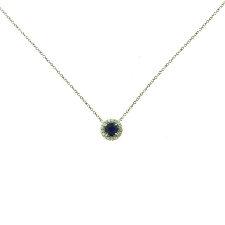 Tiffany & Co. Soleste Sapphire & Diamond Pendant & Earring Platinum 2-Piece Set For Sale 1