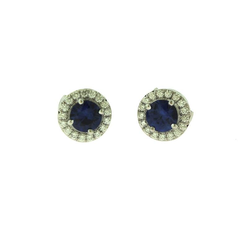 Tiffany & Co. Soleste Sapphire & Diamond Pendant & Earring Platinum 2-Piece Set For Sale 2