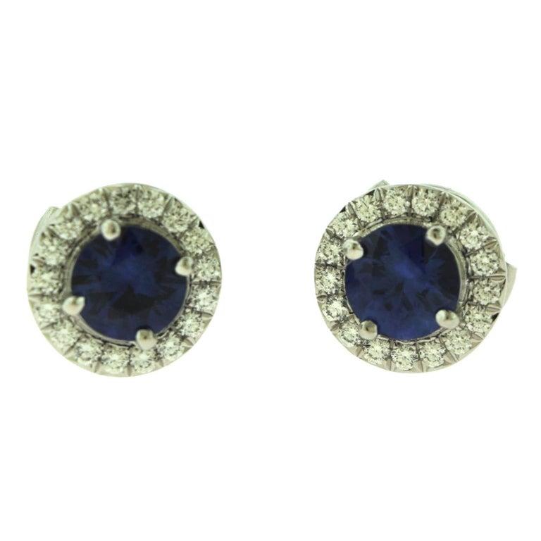 Tiffany & Co. Soleste Sapphire & Diamond Pendant & Earring Platinum 2-Piece Set For Sale 3