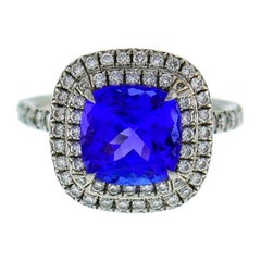 Tiffany & Co. Soleste Tanzanite Diamond Platinum Ring