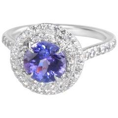 tanzanite engagement rings platinum - HD3000×3000