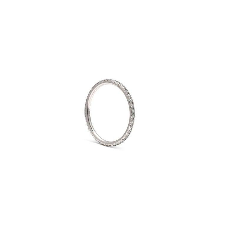 Round Cut Tiffany & Co. Soleste White Gold Diamond Eternity Band For Sale
