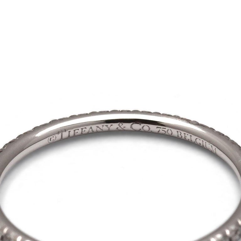 Tiffany & Co. Soleste White Gold Diamond Eternity Band In Excellent Condition For Sale In New York, NY