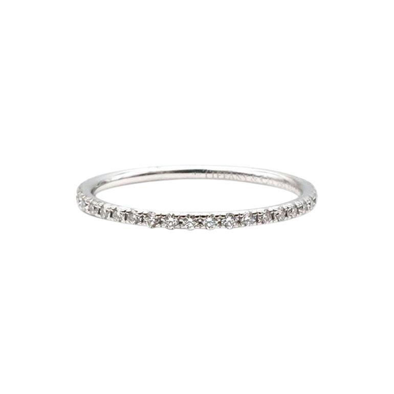 Tiffany & Co. Soleste White Gold Diamond Eternity Band