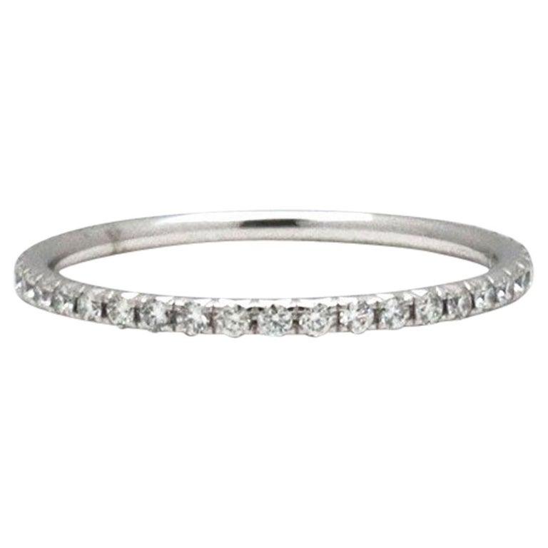 Tiffany & Co. Soleste White Gold Diamond Eternity Band For Sale