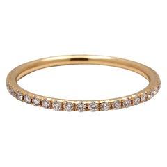 Tiffany & Co. Soleste Yellow Gold Diamond Eternity Band